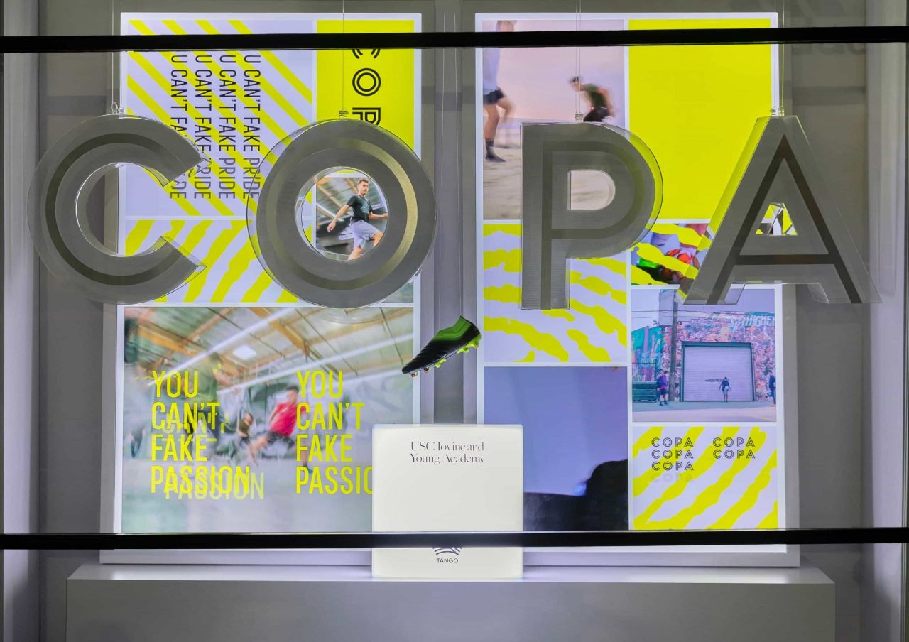 COPA 19 integrated retail window instore display by IMA