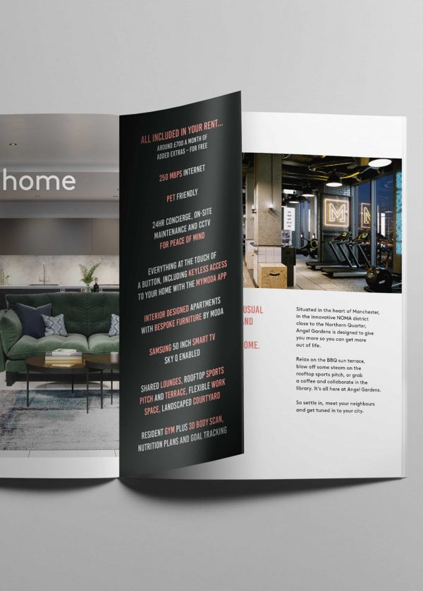 MODA Living brochure design by IMA