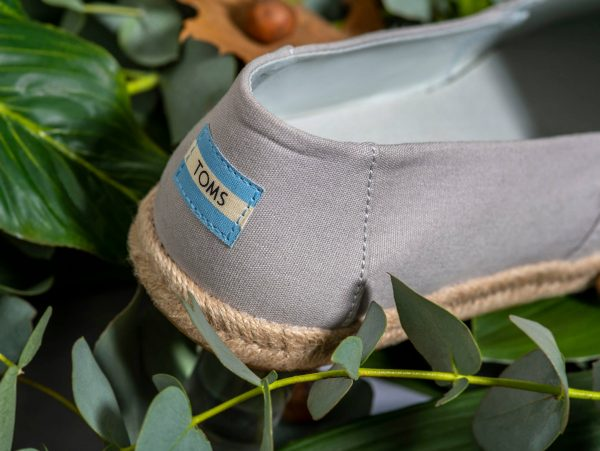 The heal of a Toms shoe